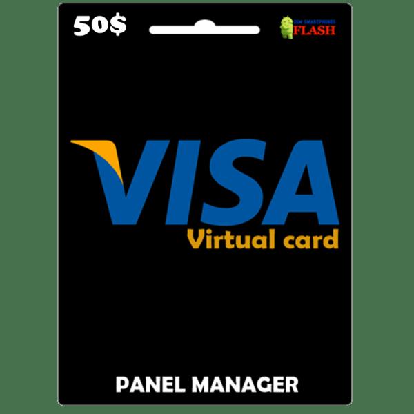 Prepaid Virtual Visa Card 50 USD (works worldwide)