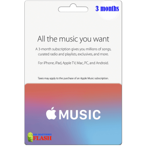Apple Music Gift Card 3 Months Subscription (US)