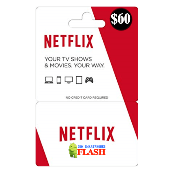 Netflix Gift Card 60 USD Email Delivery (US)