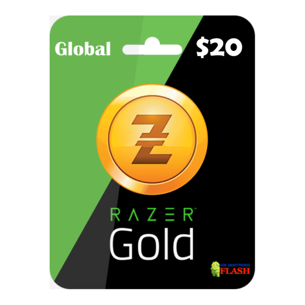 Razer Gold Global 20 USD Card Email Delivery (Rixty)