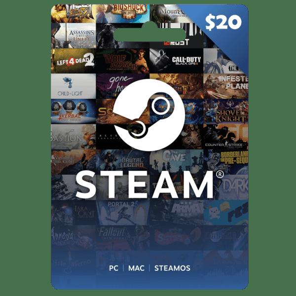 Steam Wallet Gift Card Code 20 USD (Global)