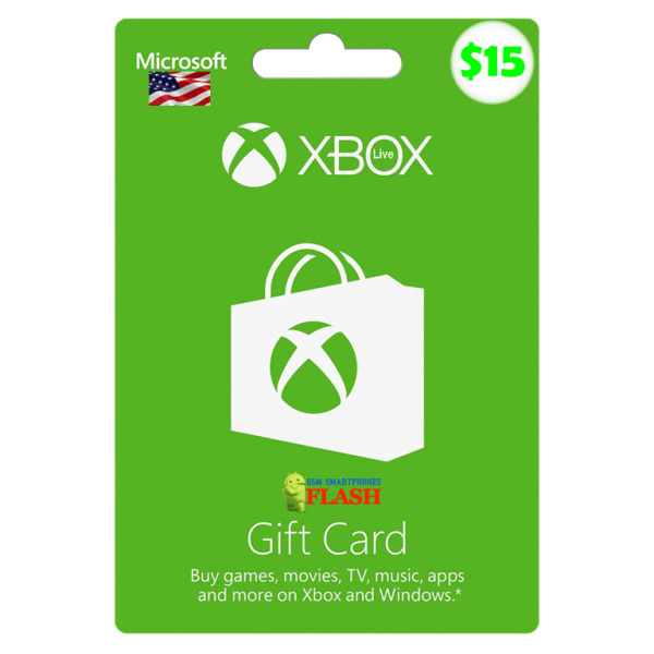 Xbox Live Gift Card 15 USD Email Delivery (US)