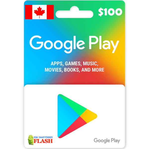 Google Play Gift Card CAD100 (CA)