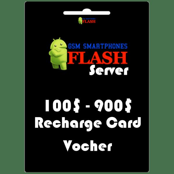 Gsmflashserver.com recharge voucher 100 to 900 credits