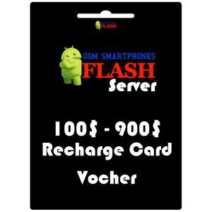 Gsmflashserver.com recharge voucher 100 to 900 credits