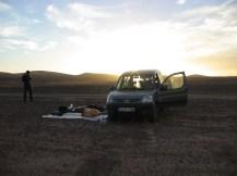 Amanecer en el desierto.