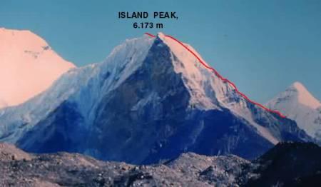 Ruta ascenso Island Peak
