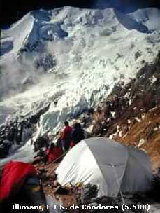 Illimani, C1, N.de Cóndores (5500m)