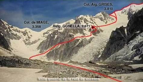 Vista general ruta ascenso