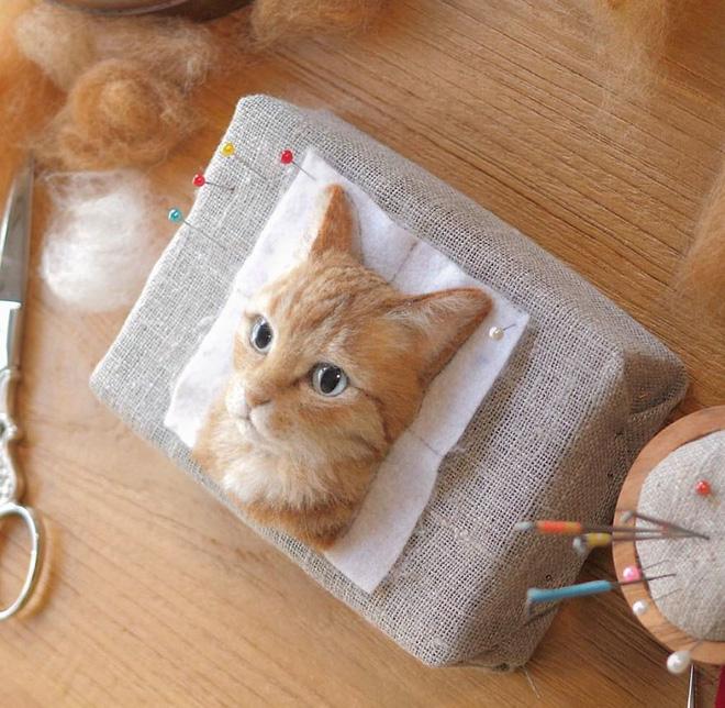 Nghệ sĩ Nhật Bản khiến cư dân mạng trầm trồ vì khả năng tạo hình mèo 3D từ len giống y như mèo thật - Ảnh 3.