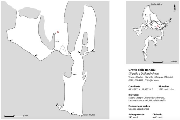 Il rilievo della Grotta delle Rondini (2019)