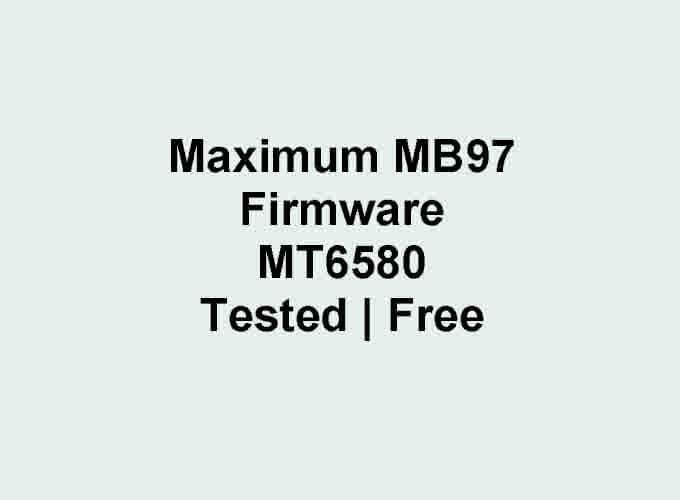 Maximum MB97 Flash File