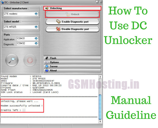 How To Use DC Unlocker