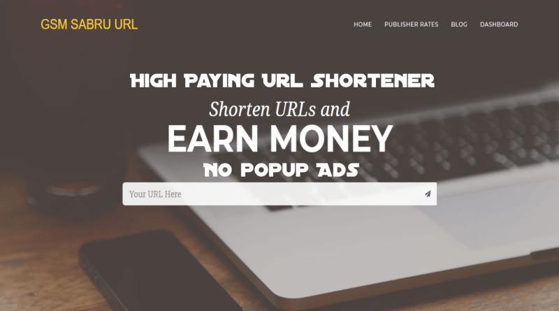 GSM SABRU URL SHORTENER | High Paying CPM | Without Popup Ads