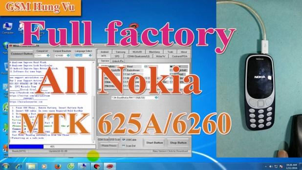 Factory Reset Nokia 3310 2017 TA 1030