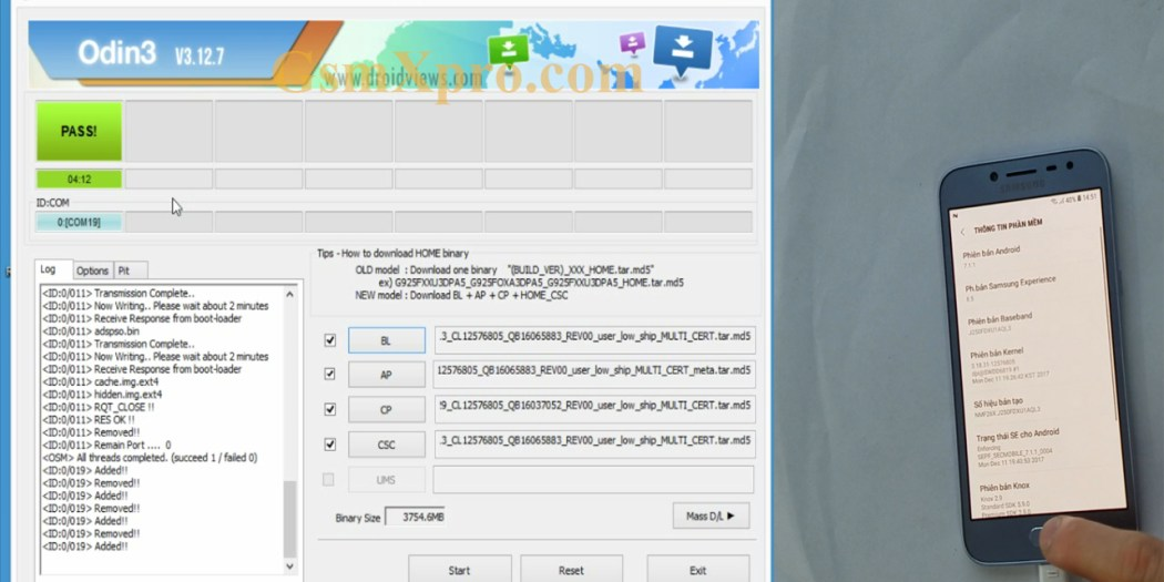 Flash firmware android