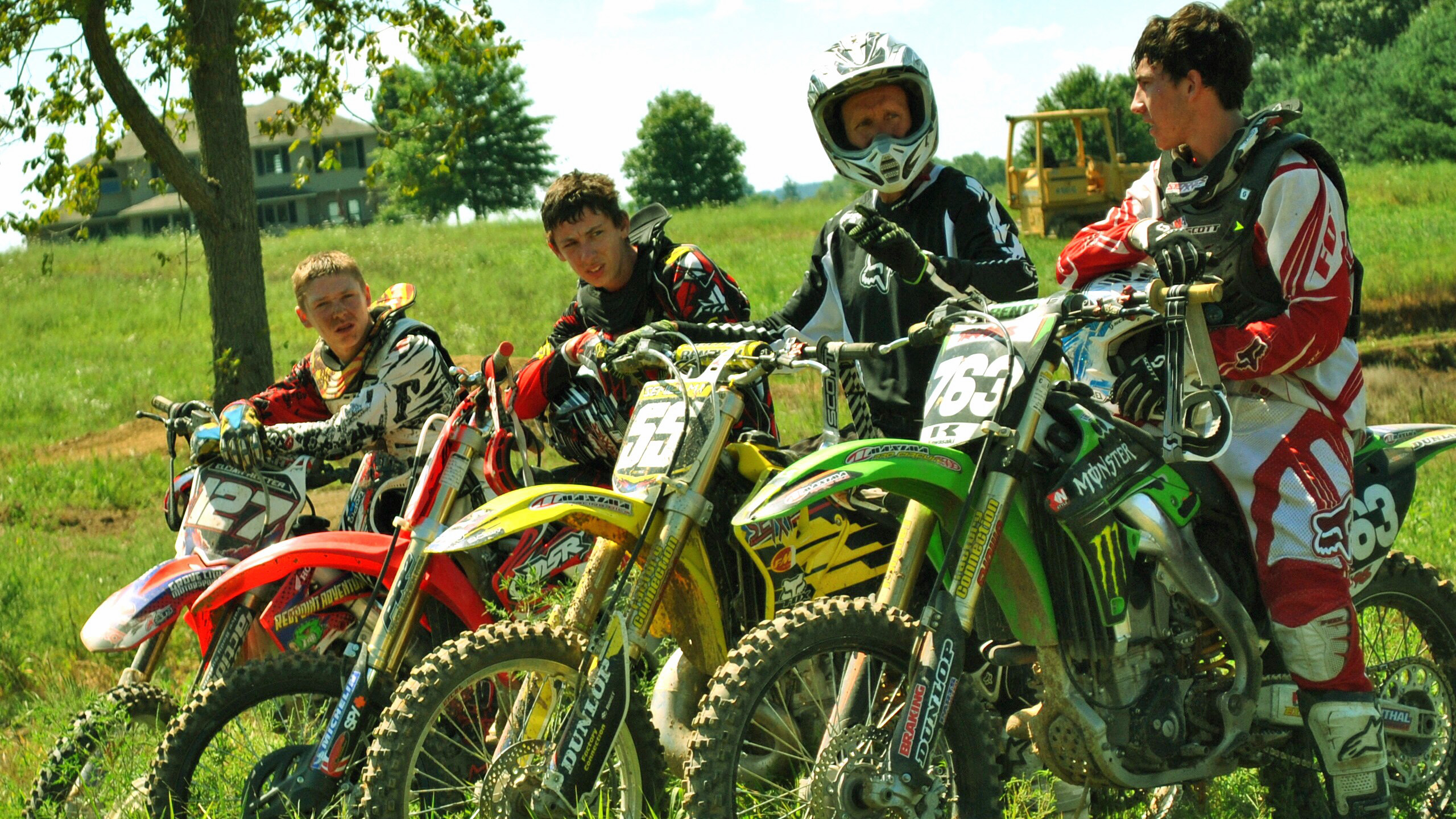 Motocross racing training