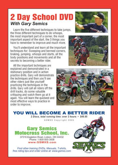 2-Day Motocross School DVD rear cover