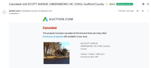 cancelation notice for 624 scott ave from auction.com (email)
