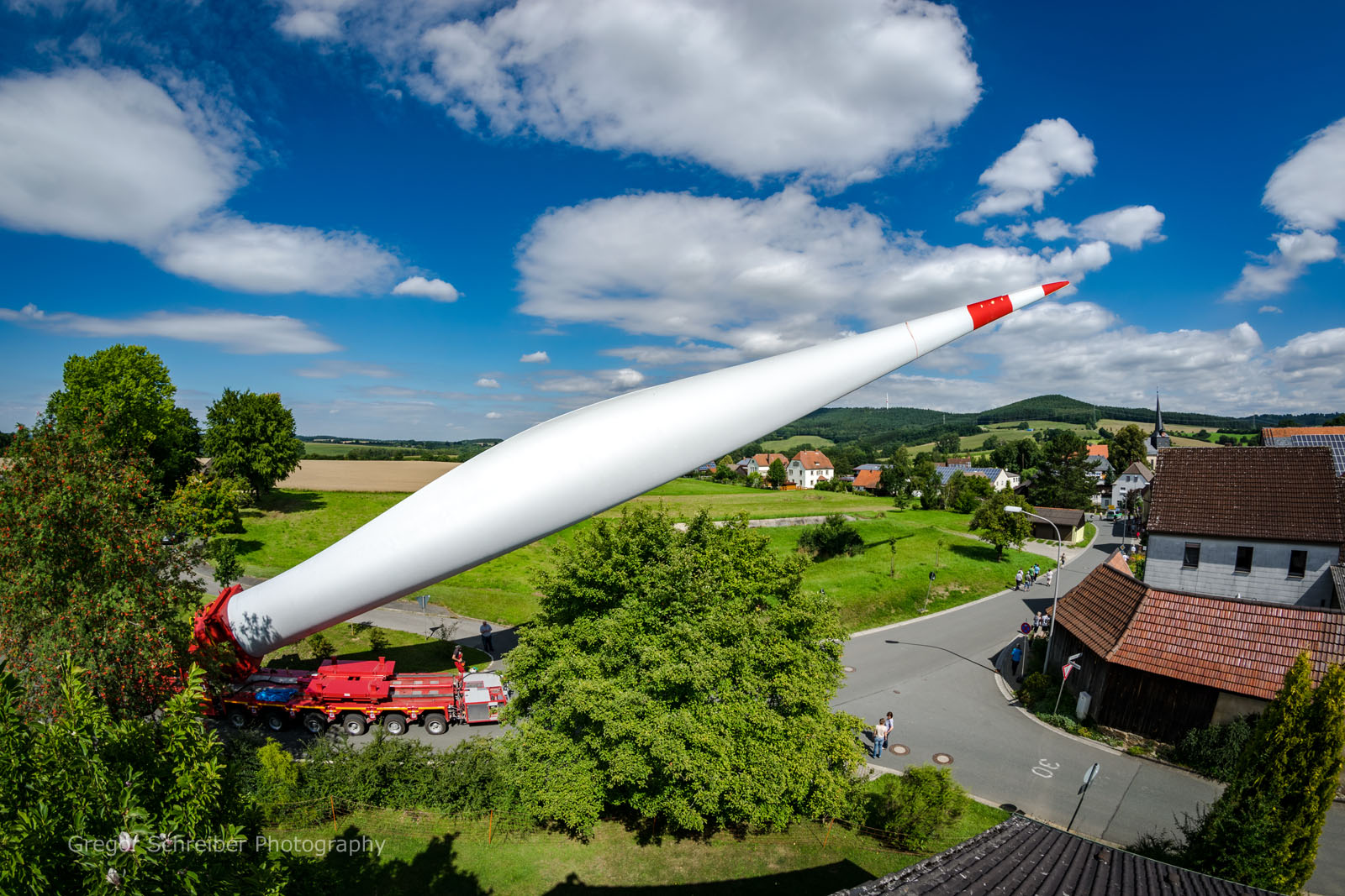 Flügeltransport Gärtenroth - Windpark Hain