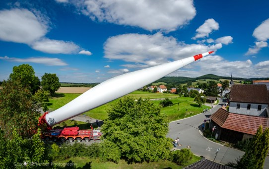 Flügeltransport Gärtenroth - Windpark Hain