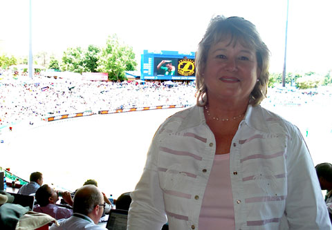 The tireless Elise Lombard, always on about making the iconic Supersport Park better. Photo: gsport