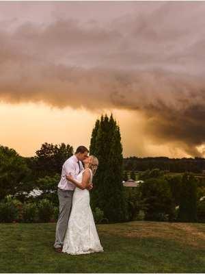 lord hill farm snohomish wedding sunset storm rain couple bride and groom