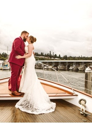 wedding couples bride and groom on a boat wedding party photos by gsquared weddings