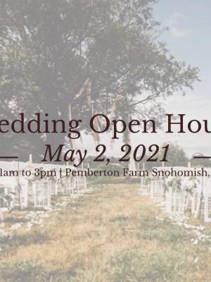snohomish wedding open house may 2021 pemberton farm snohomish river