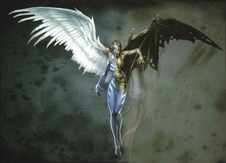 求一邊惡魔一邊天使圖片_百度知道