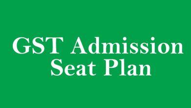 GST Admission Seat Plan