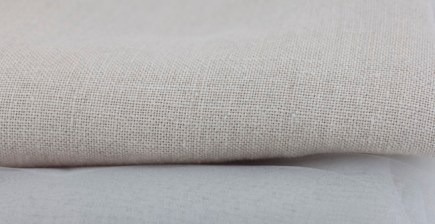 Linen and backing fabric