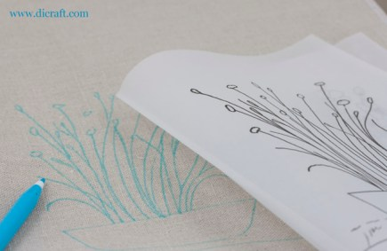 Linen fabric and line drawing for those who prefer