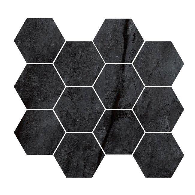 black 4 hexagon porcelain from garden