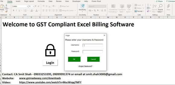 GST Invoice in Excel