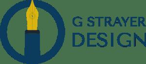 G Strayer Design Pen and Circle Logo Outline