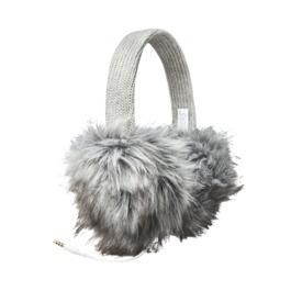 grey puffy headphone earmuffs