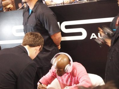 SMS Audio (6) - 50 Cent pushes SMS Audio - 50 Cent - Money Mayweather - CES 2012 - Signs Autographs