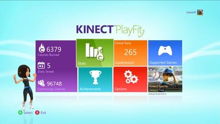 Xbox Kinect PlayFit - Calories Stats