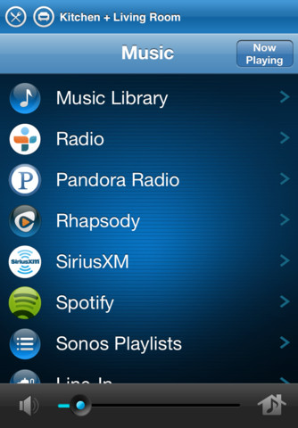 Sonos Controller - Music Collection List