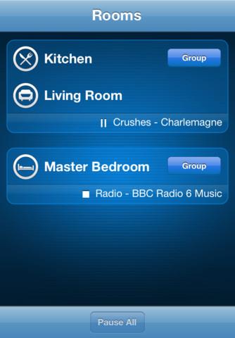 Sonos Controller - Room List