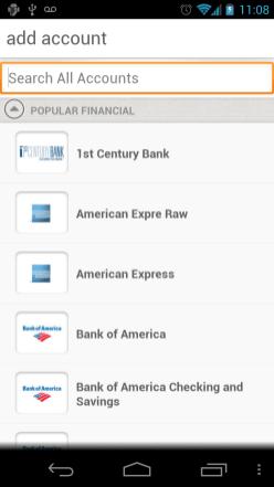 Manilla Android App - Add Accounts