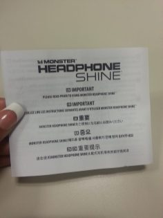 Monster Diamond Tears - Headphone Shine Instructions