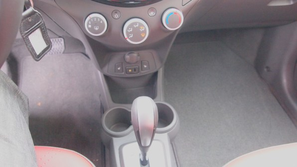 Chevy Spark 2 LT - G Style Magazine - REview - Auto - Car - Interior - Shifter - Controls - Cup Holders