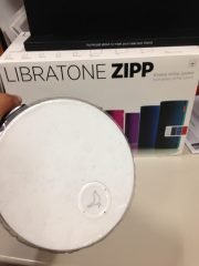 Libratone Zipp Blue - G Style Magazine REview - AirPlay Speakers - top of speaker - main button