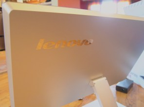 Lenovo IdeaCentre A720: An All In One PC - Back of Computer - logo