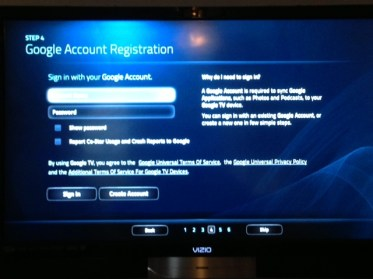 Vizio Co-Star Google TV - Media Streamer -Account setup