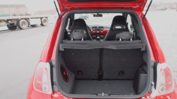 2013 Fiat 500 Abarth Trunk Back Space