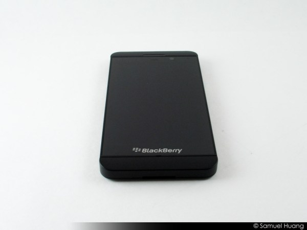 BlackBerry Z10 Review Part 1 - Hardware Impressions - BB Z10 - Front View - BBM