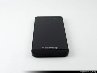 BlackBerry Z10 Review Part 1 - Hardware Impressions - BB Z10 - Screen On - BB 10 OS- Back